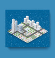 Christmas city isometric