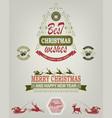 christmas emblem of green and red hues vector image