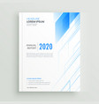 clean blue brochure or book cover template vector image vector image