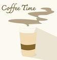 coffee timeflat icon vector image vector image