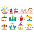 colorful attractions collection vector image vector image