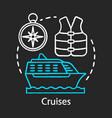 cruises chalk icon voyage travelling sea idea vector image