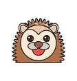 cute porcupine drawing animal vector image
