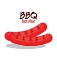 delicious bbq sausages icon vector image vector image