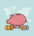 finance and trading cartoon vector image vector image