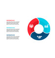 flat circle element for infographic with 3 vector image
