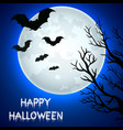 flying bats in halloween night vector image