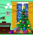 for christmas christmas tree gifts vector image