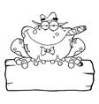 Frog mobster cartoon vector image vector image