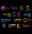 g creative colorful icons corporate identity vector image
