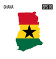 ghana map border with flag eps10 vector image