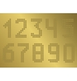 Golden Number set vector image vector image