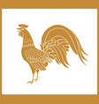 golden rooster isolated on white background vector image