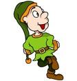 Green Dwarf Smiling vector image vector image