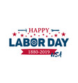 happy labor day greeting banner national usa vector image