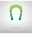 Horseshoe black green icon vector image vector image
