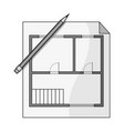 house planrealtor single icon in monochrome style vector image vector image
