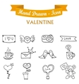 Icon valentine day with hand draw vector image vector image