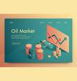 is written oil market isometric vector image vector image