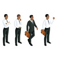 isometry icons emotions male african american vector image vector image