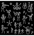jazz band icons vector image vector image