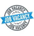 job vacancy round grunge ribbon stamp vector image vector image