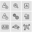 line people search icon set vector image vector image