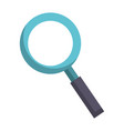 magnifying glass zoom lamp cartoon vector image vector image