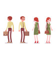 male and female clerk standing vector image