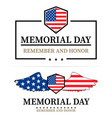 memorial day labels on a white background vector image vector image