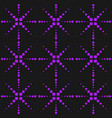 neon purple seamless pattern with dots sparkles vector image vector image