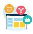 online shopping design vector image