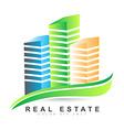 Real estate agency logo vector image vector image