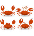 red crabs characters vector image