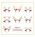 reindeer antler and ear prop vector image vector image