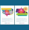sale premium quality promo labels online posters vector image vector image