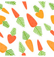seamless pattern with cartoon carrots vector image