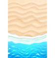 seaside beach azure waves sand coast vector image