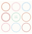 set of hand drawn style badges and design elements vector image vector image