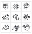 Set of Interrogation Icons Criminal vector image