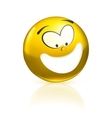Smiling icon yellow vector image