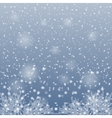 Snow falling on the branches of trees vector image vector image