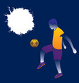 soccer player hitting ball design vector image