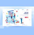 social presentation for hiring vector image vector image