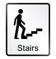 Stairs Information Sign vector image vector image