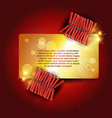 stylish crackers vector image vector image