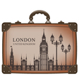 suitcase london vector image vector image