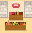 supermarket sale stand vector image
