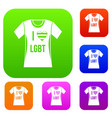 t-shirt i love lgbt set collection vector image vector image
