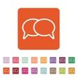 The speech bubbles icon Talk symbol Flat vector image